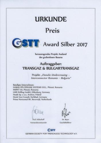 Urkunde GSTT Silber