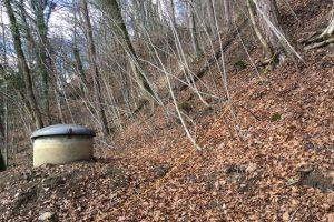 Brunnenstube am Hang